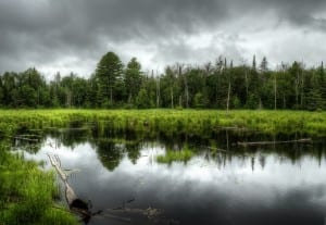 Stormy Clouds over Marsh