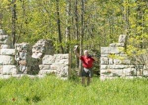 Nigel at the Barn Ruins
