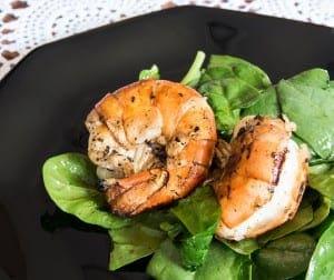 Jumbo Shrimp with Salad