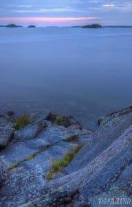 Blue Hour Killbear Cliff