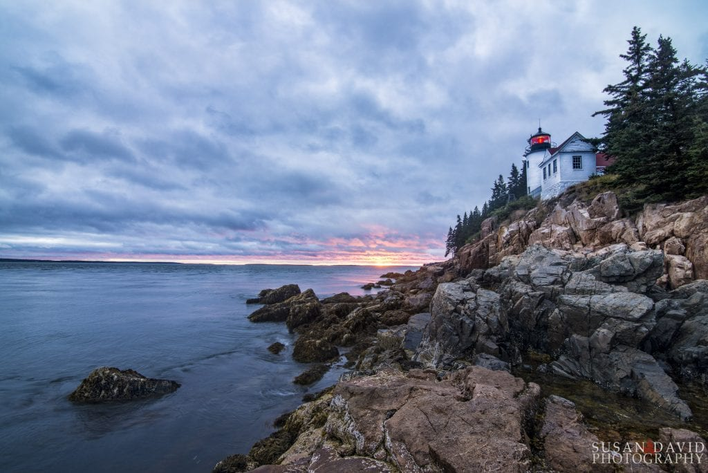 Sunset at Bass Harbor Lighthouse