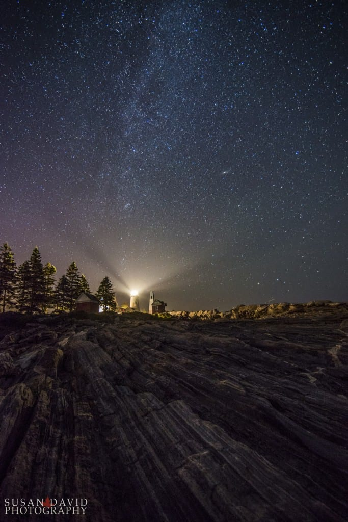 Pemaquid Pt Lighthouse under Starry Skies