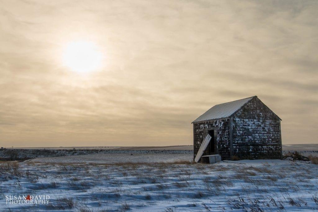 Abandoned Shack at Sunrise