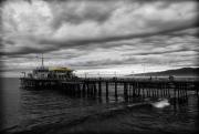 Santa Monica Pier BW