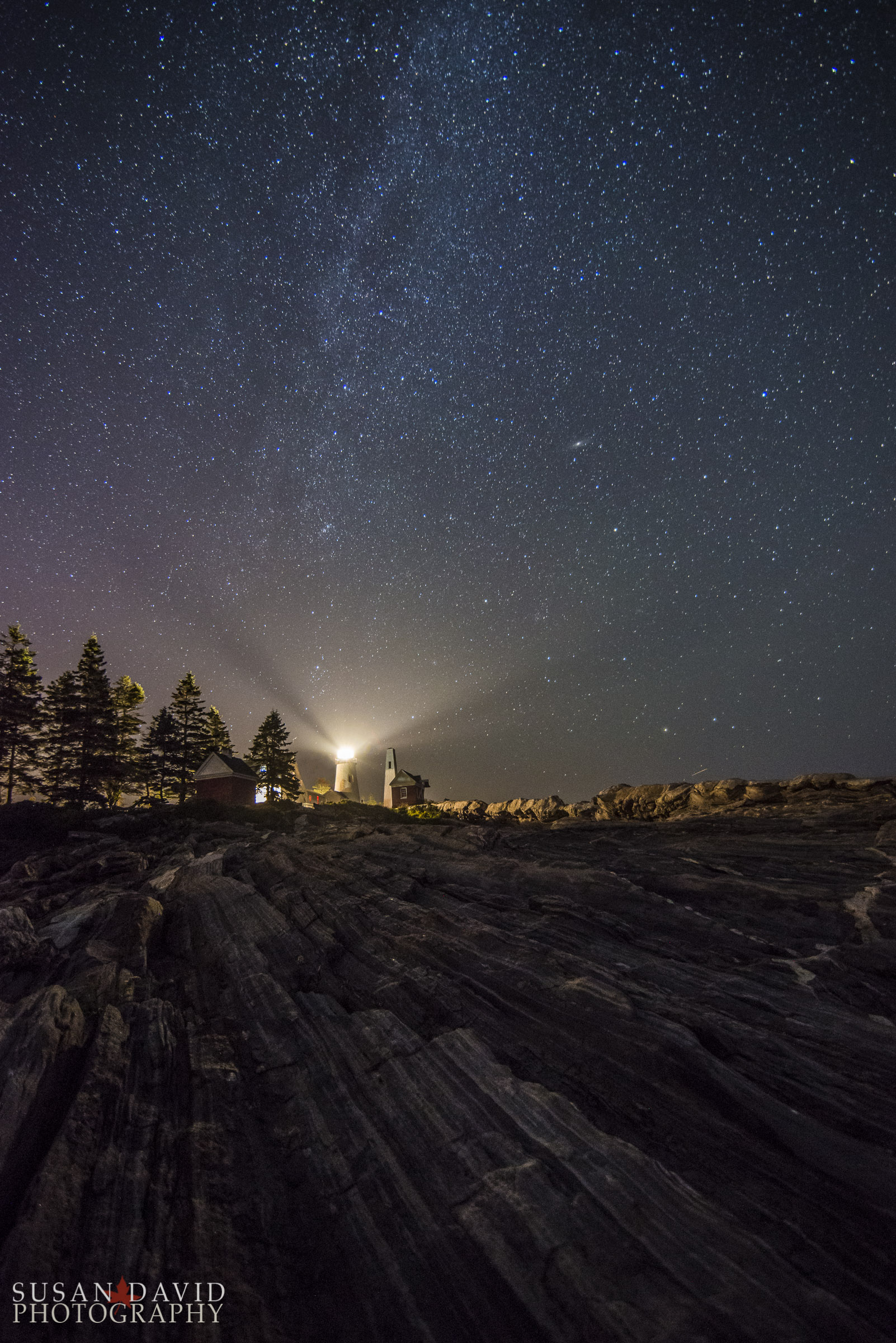 Pemaquid Pt Lighthouse under Starry Skies