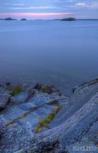 Blue Hour Killbear Cliff
